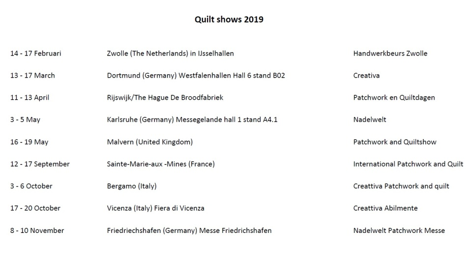 Quilt shows 2019 - 3