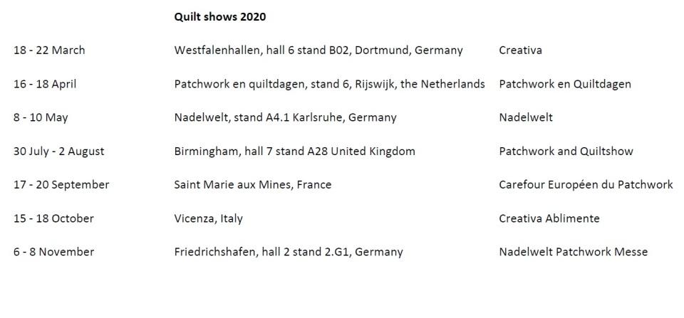quilt shows 2020
